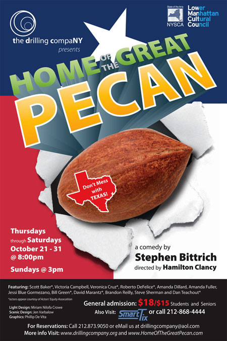 Stephen Bittrich Home of Great Pecan Poster